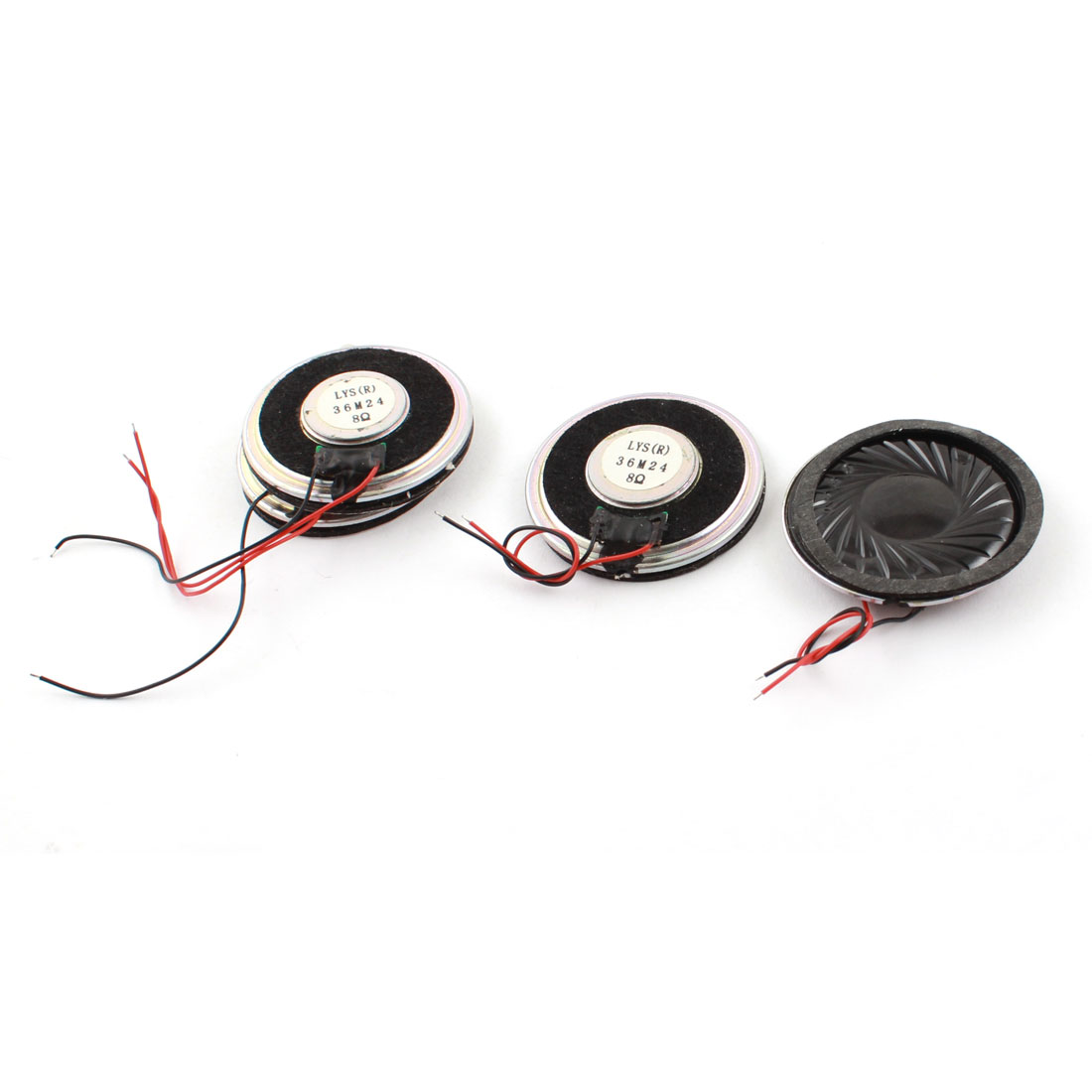 4 Pcs 1W 8 Ohm 36mm Dia Plastic Housing Round Cellphone Magnet Speaker Loudspeaker