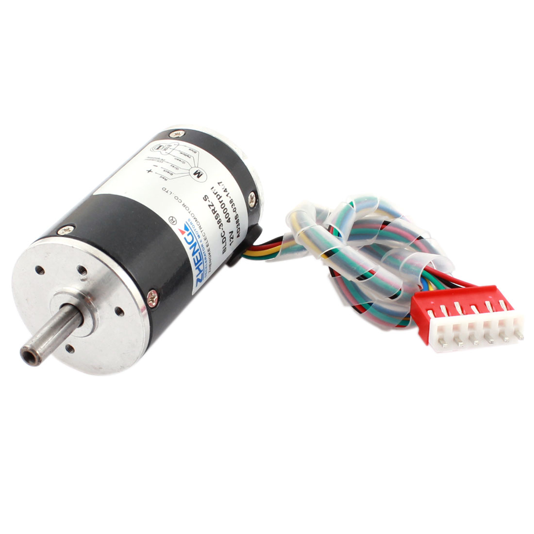 DC 12V 4000RPM High Speed 38mm Diameter Low Noise Helicopter Disc Brushless Motor Gray