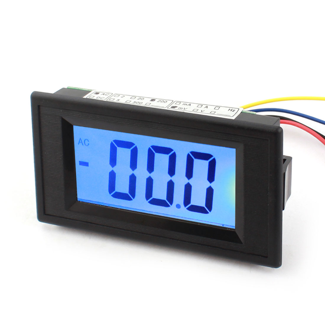 Blue LCD Panel Mount Meter Digital Voltmeter Display AC 0-200mV