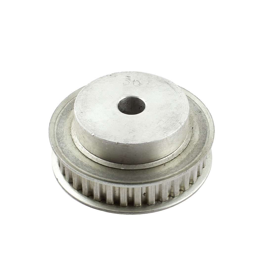 Aluminum Alloy XL 36 Teeth 10mm Bore Dia Double Flanged Motor Drive Synchronous Timing Pulley