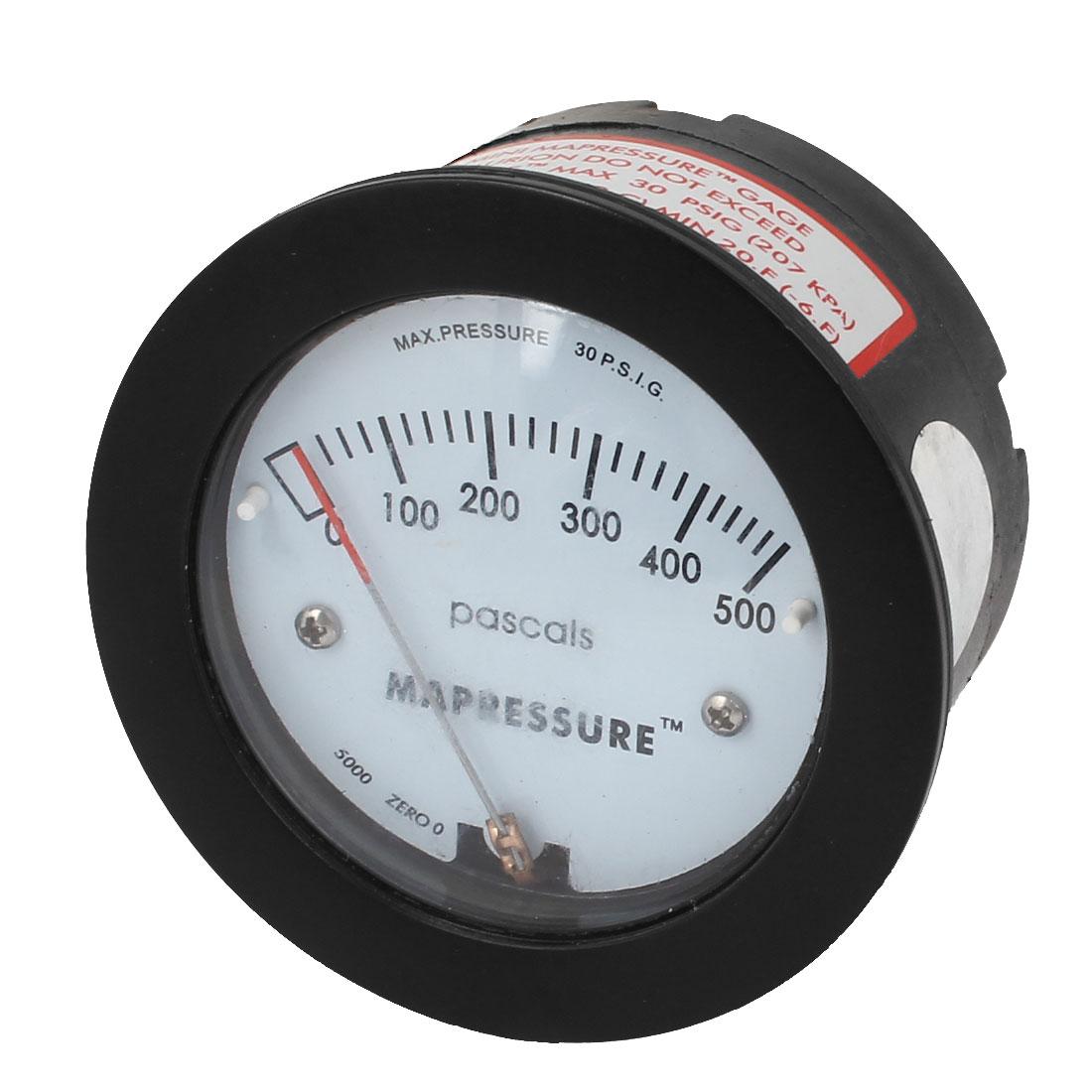 Adjustable Air Differential Pressure Gauge 0-500Pa