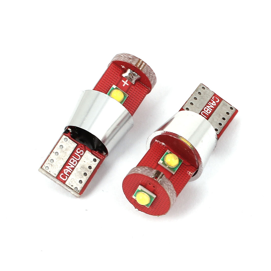 2 Pcs Car T10 W5W 3 SMD LED 15W Dashboard Gauge Bulb Light Lamp White 12V internal