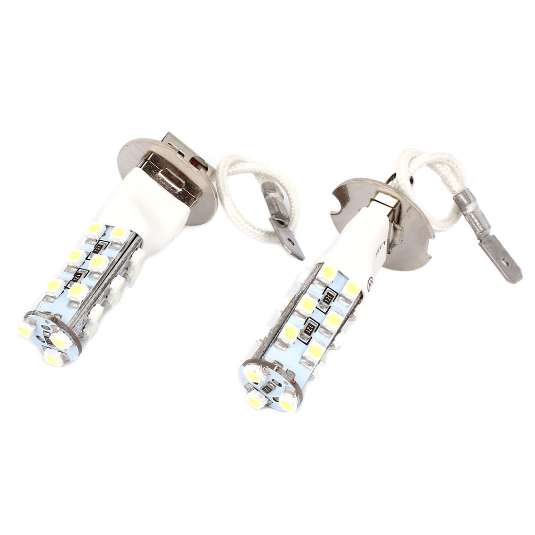 Pair H3 1210 21 SMD LED Flash White Headlamp Foglight Bulb for Vehicle