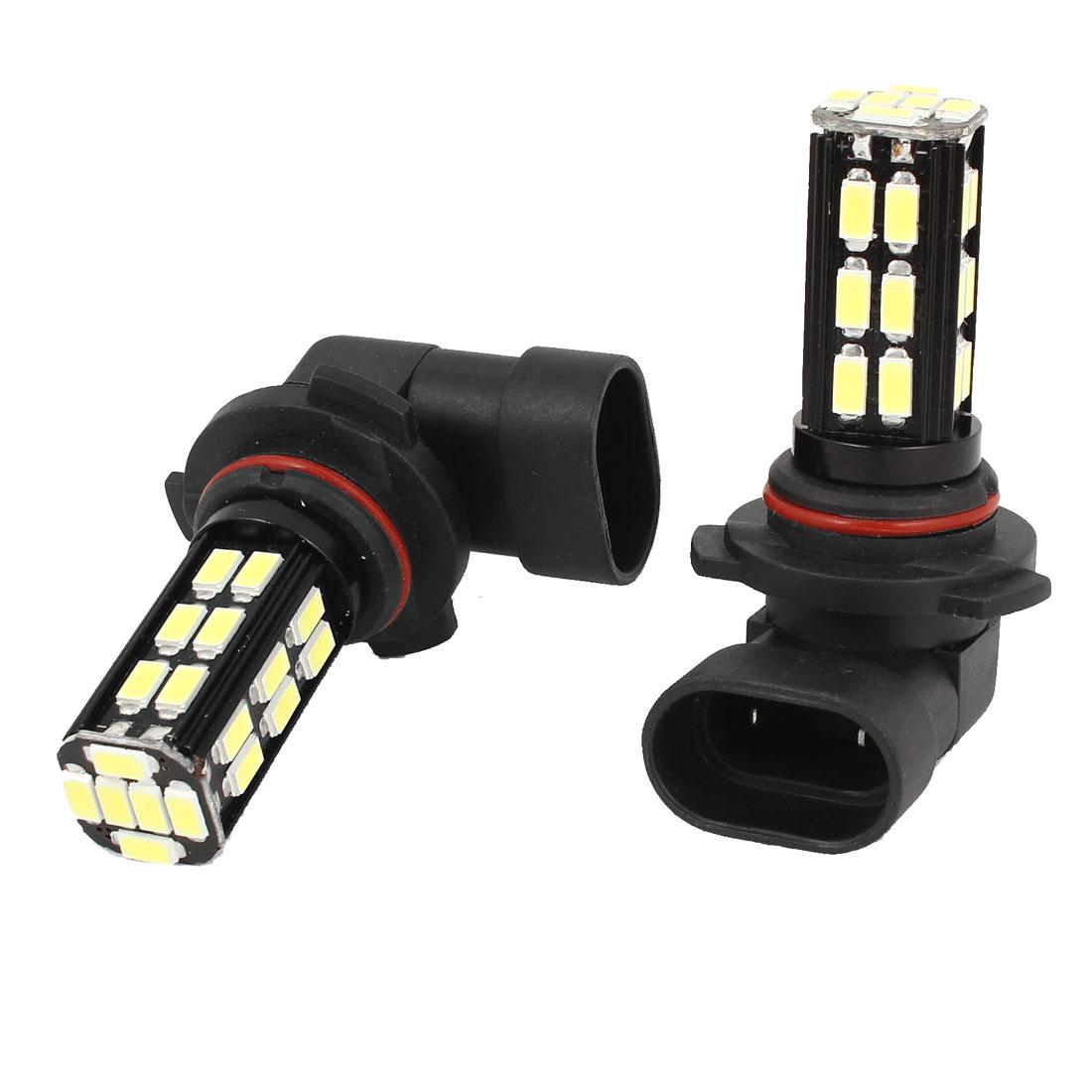 2 Pcs 9006 5630 30 SMD LED DRL Headlamp Fog Light Driving Lamp White 12V