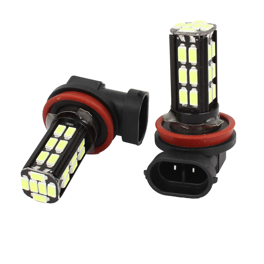 2 Pcs Car H11 5630 30 SMD LED Fog Head Light Bulb Lamp White 12V