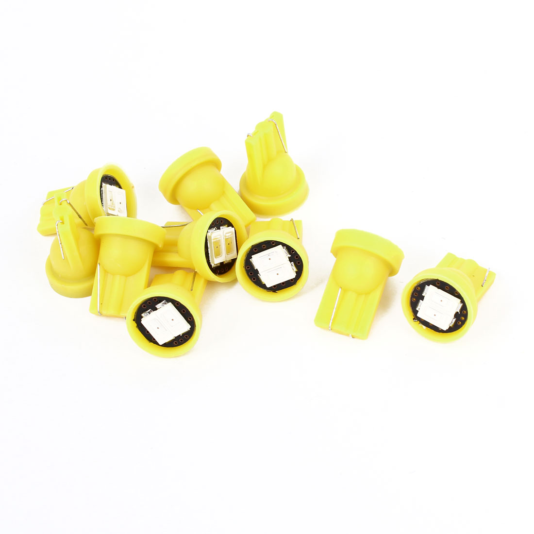 Car T10 W5W 2 5630 SMD LED Wedge Dashboard Bulb Light Yellow 12V 10 Pcs internal