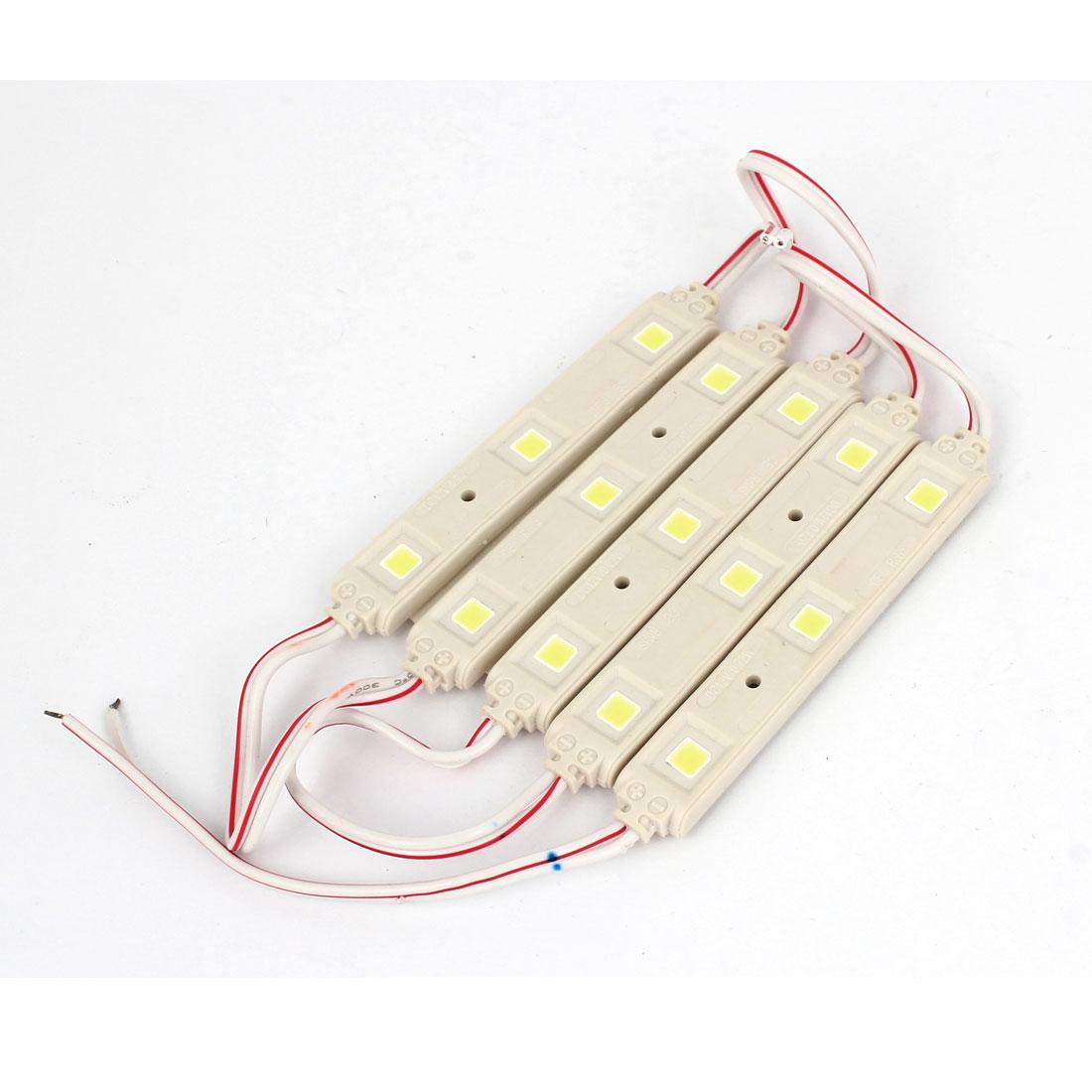 5 in 1 Car White 3 LED 5050 SMD Internal Dome Panel Lamp Reading Light 12V