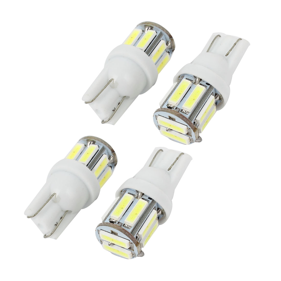 4 Pcs Auto T20 1440 White 720 SMD 10 LED Tail Backup Light Side Bulb 12V