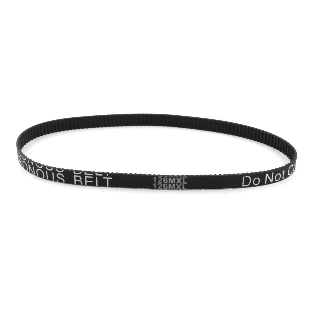 126MXL025 158-Tooth 6.4mm Width Black Industrial Stepper Motor 3D Printer Groove Synchronous Timing Belt 12.6""