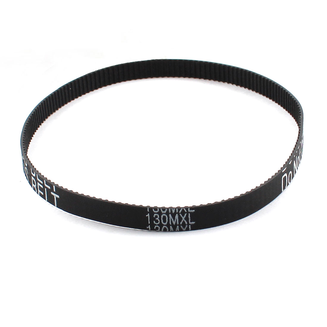 "130MXL025 162-Tooth 2.032mm Pitch 6.4mm Wide Black Industrial Stepper Motor Groove Cogged Synchronous Timing Belt 13"" Girth"