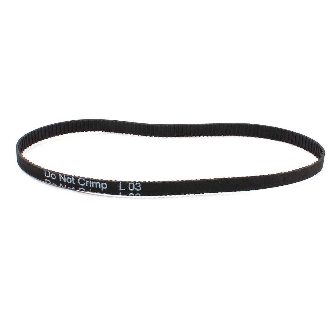 "134MXL025 168 Teeth 2.032mm Pitch 1/4"" Width Black Single Side Industrial Cogged Synchronous Timing Belt 341.38mm Grith"