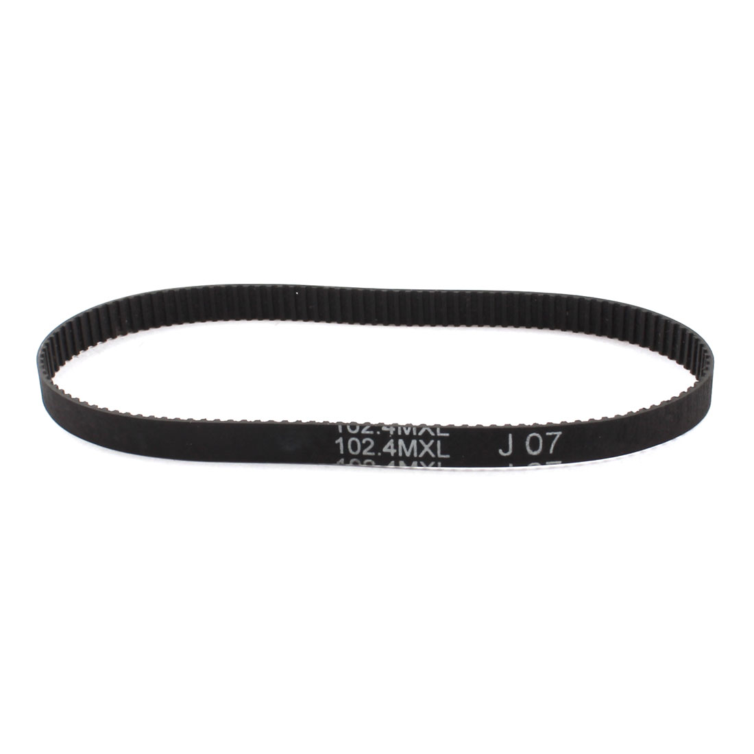 "102.4MXL025 128-Teeth 1/4"" Wide 2.032mm Pitch Black 3D Printer Groove Synchronous Timing Belt 10.24"" Girth"