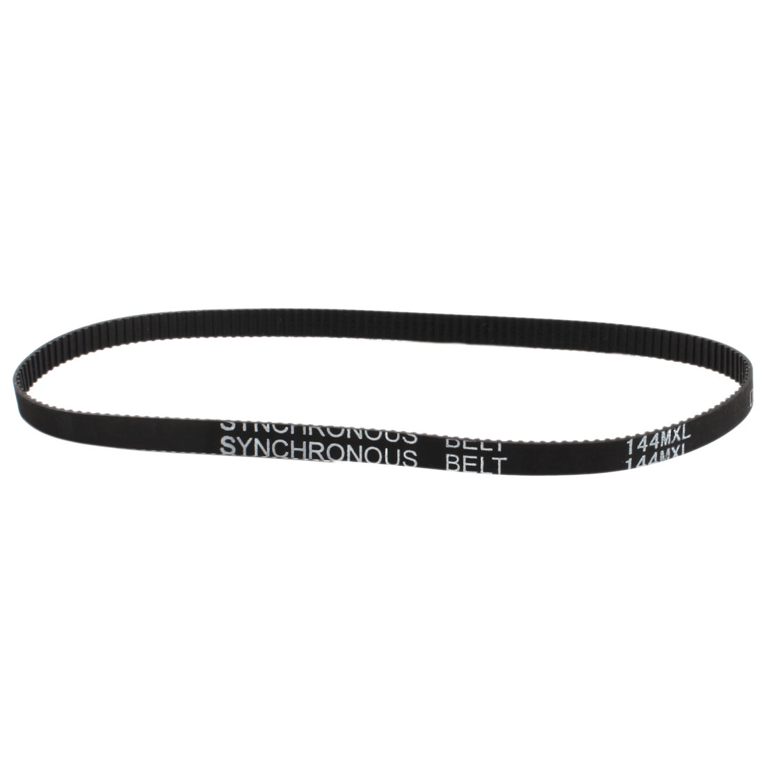 "144MXL025 180-Tooth 2.032mm Pitch 6.4mm Wide Black Groove Cogged Stepper Motor Synchronous Timing Belt 14.4"" Girth"