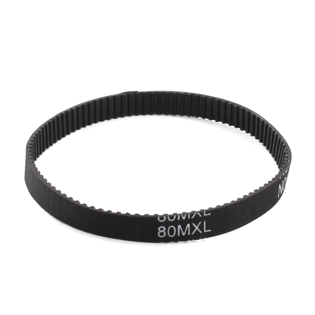 "80MXL025 100 Teeth 2.032mm Pitch 1/4"" Width Single Side Black Industrial Stepper Motor Groove Synchronous Timing Belt"