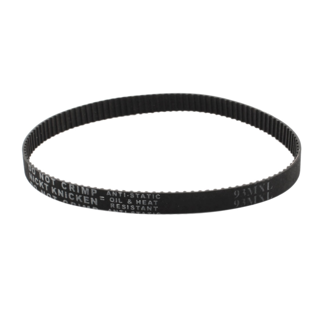 "93MXL025 116 Teeth 2.032mm Pitch 1/4"" Width Single Side Black Industrial Stepper Motor Groove Synchronous Timing Belt 9.3"" Girth"