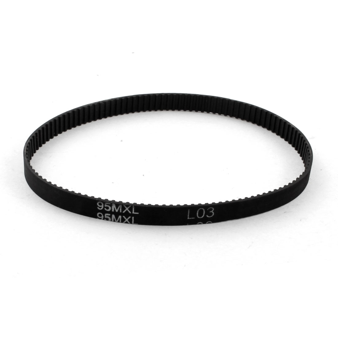 "95MXL025 119 Teeth 2.032mm Pitch 1/4"" Width Single Side Black Industrial Stepper Motor Groove Synchronous Timing Belt 9.5"""