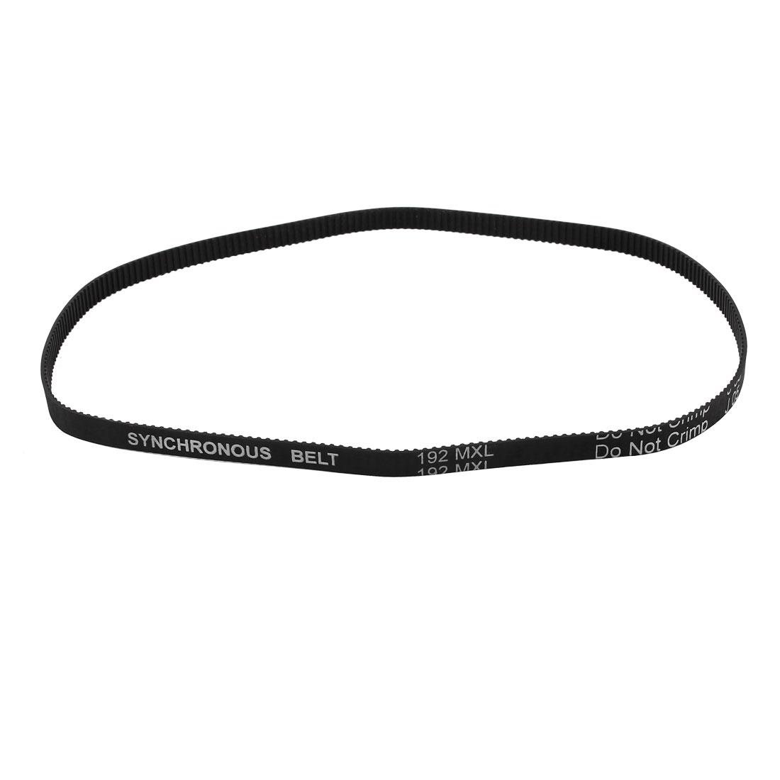 192MXL 025 240 Teeth 2.032mm Pitch 6.4mm Width Industrial Timing Belt Black