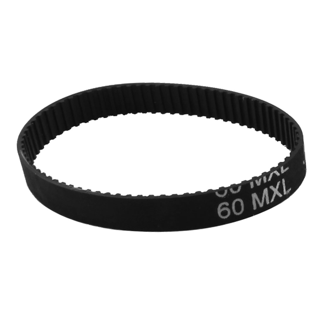 60MXL025 75 Teeth 6.4mm Width Black Industrial Stepper Motor 3D Printer Groove Cogged Synchronous Timing Belt 152.4mm