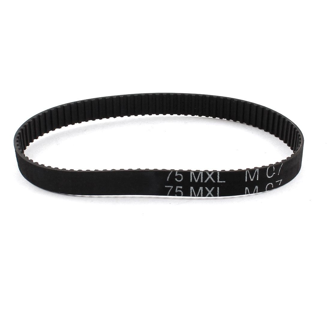 "75MXL025 94 Teeth 2.032mm Pitch 1/4"" Width Black Industrial Stepper Motor 3D Printer Groove Synchronous Timing Belt 7.5"" Girth"