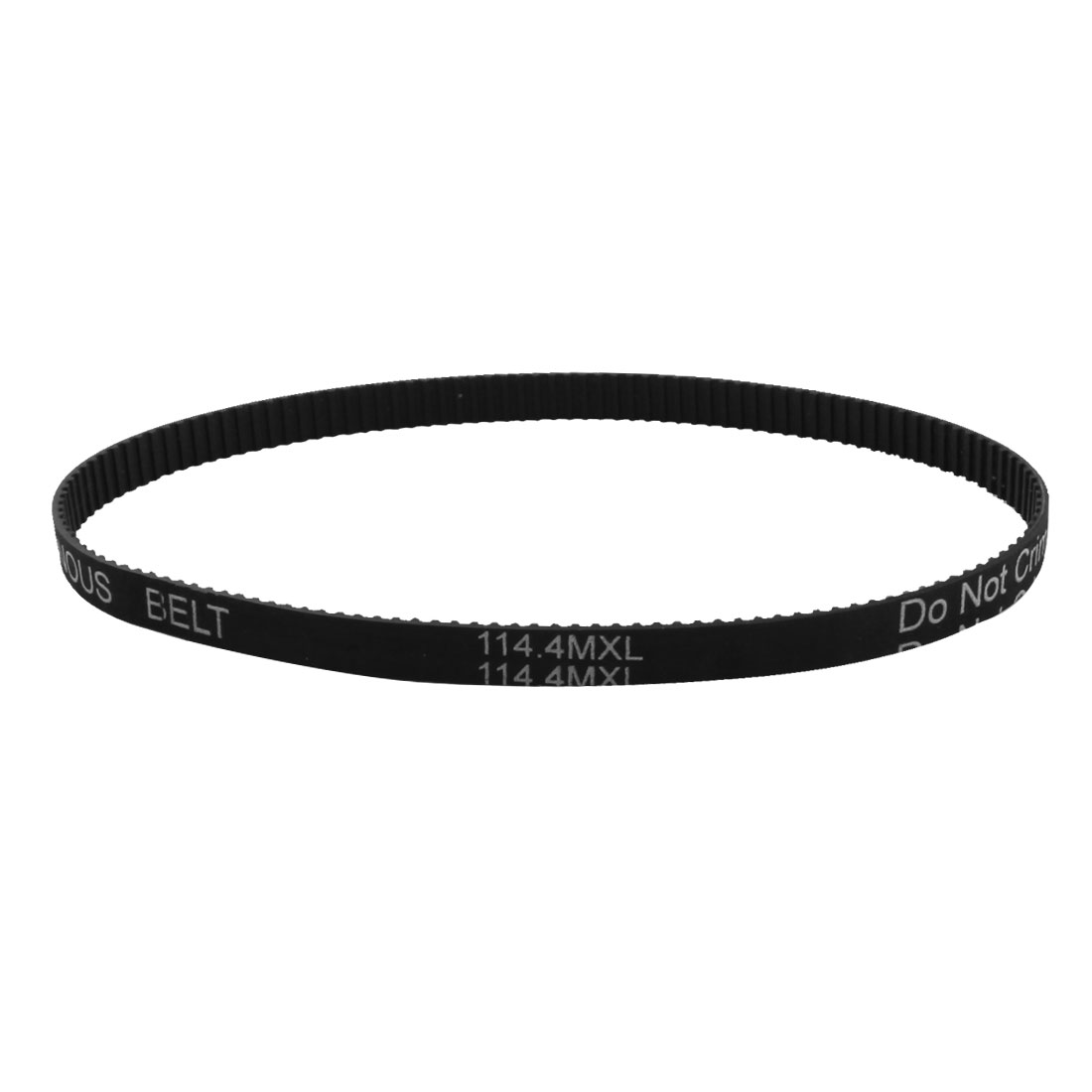 "114.4MXL025 143-Teeth 2.032mm Pitch 1/4"" Width Single Side Black Cogged Stepper Motor Synchronous Timing Belt 11.44"" Girth"