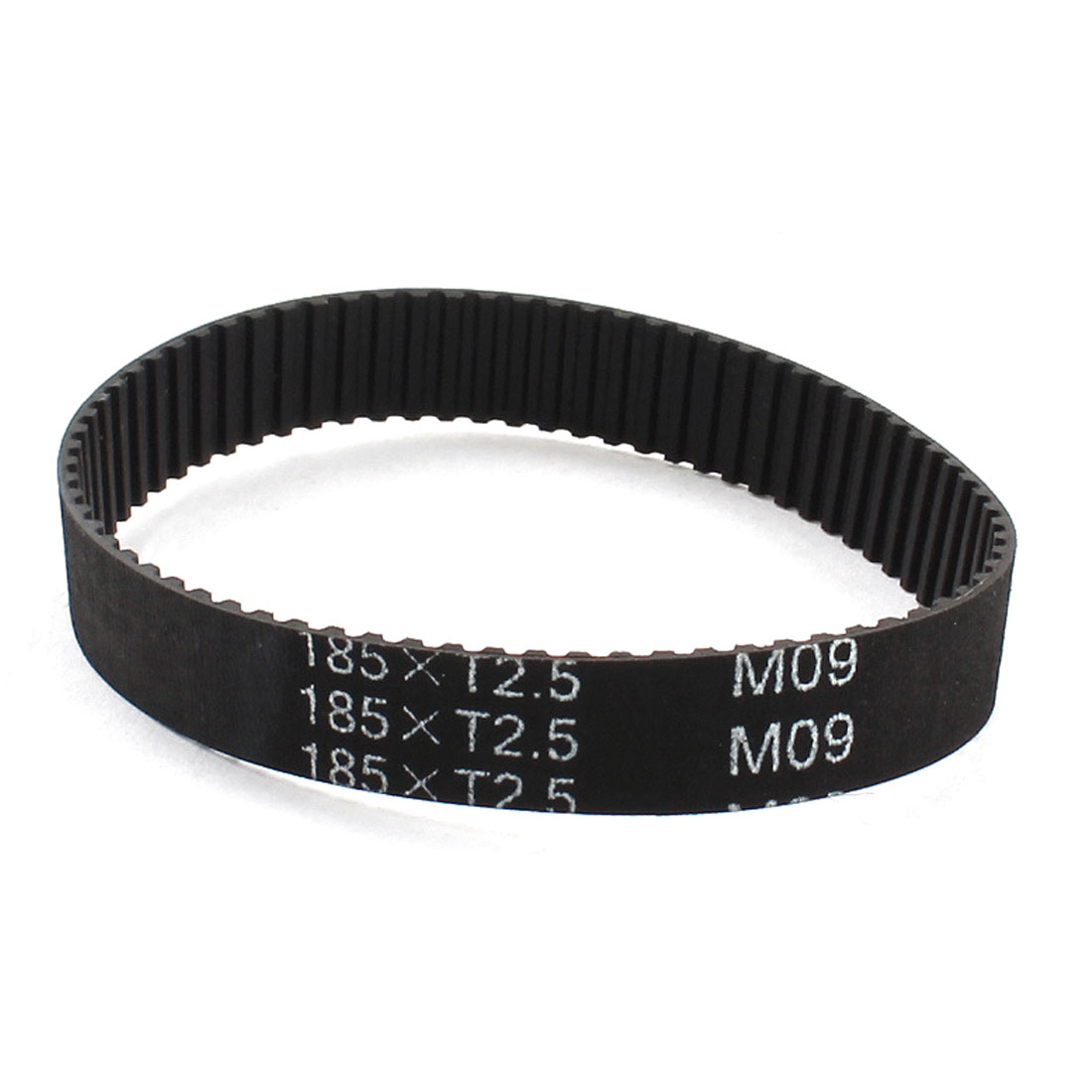 "T2.5x185 74-Tooth 10mm Width Black Industrial Machine Groove Synchronous Timing Belt 7.3"" for 3D Printer"