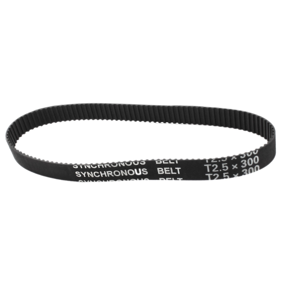 T2.5x300 120-Tooth 2.5mm Pitch 10mm Width CNC 3D Printer Black Rubber Groove Synchronous Timing Belt 12""