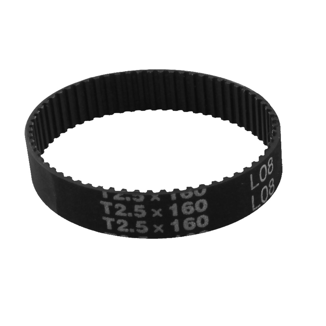 T2.5x160 64-Tooth 2.5mm Pitch 10mm Width Black Industrial Stepper Motor Groove Synchronous Timing Belt 160mm Girth