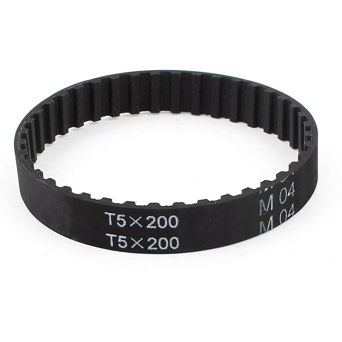 T5x200 40 Teeth 5mm Pitch Rubber Cogged Industrial Timing Belt 200mm