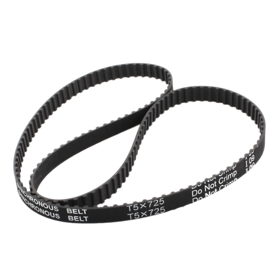 T5x725 145-Tooth 10mm Width Single Side Black Rubber Groove Industrial CNC Machine Synchronous Timing Belt 725mm for 3D Printer