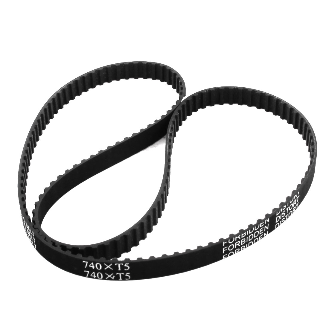 T5x740 148-Tooth 10mm Width Single Side Black Rubber Groove Industrial CNC Machine 3D Printer Synchronous Timing Belt 740mm Girth