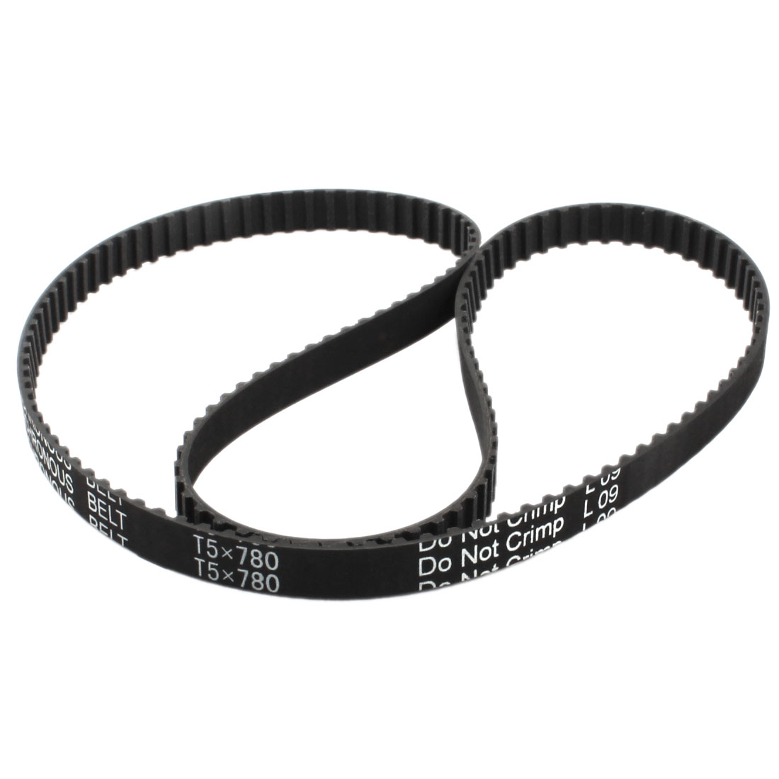 T5x780 156-Tooth 10mm Width Single Side Black Rubber Groove Industrial CNC Machine 3D Printer Synchronous Timing Belt 780mm Girth