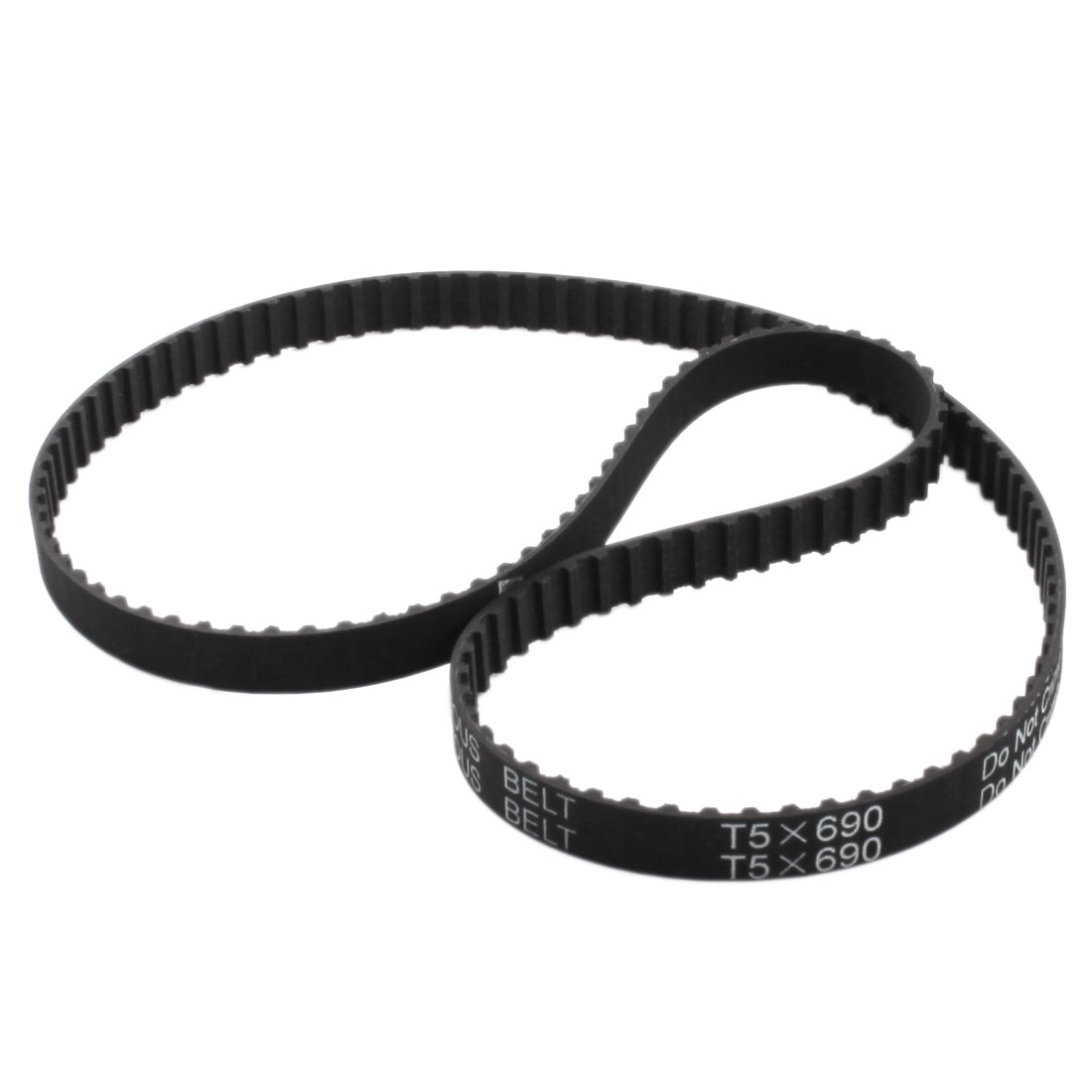 T5x690 138-Tooth 10mm Width Single Side Black Rubber Groove Industrial CNC Machine 3D Printer Synchronous Timing Belt 690mm Girth