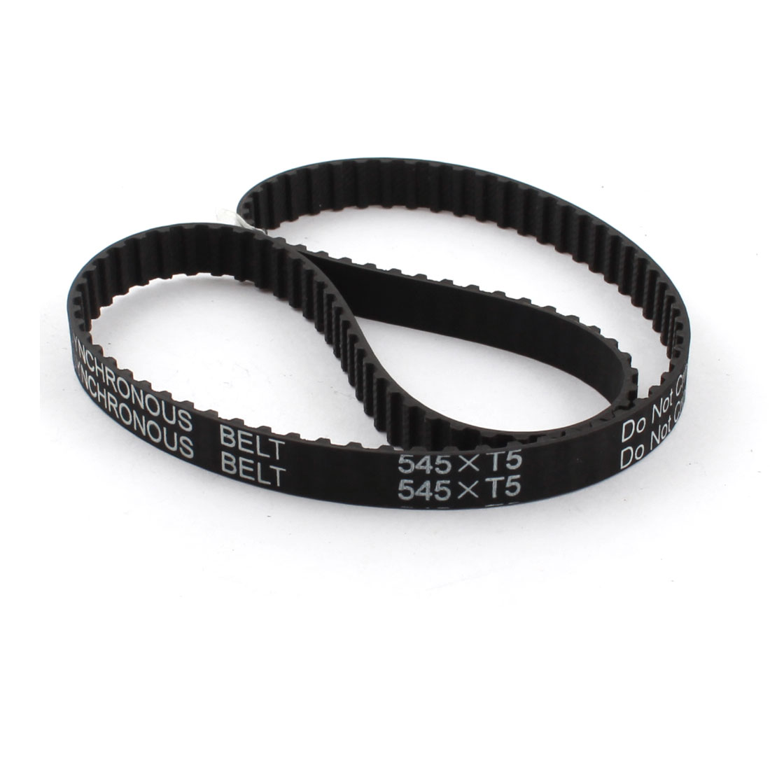 T5x545 109-Tooth 10mm Width Black Groove Industrial Stepper Motor CNC Synchronous Timing Belt 545mm Girth