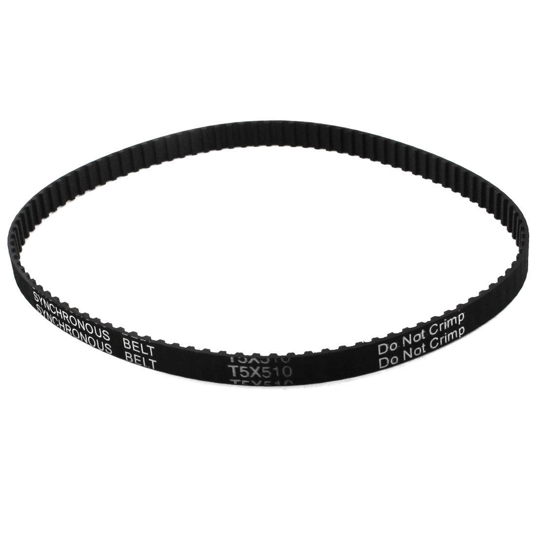 T5x510 102 Teeth 5mm Pitch 10mm Width Single Side Cogged Industrial CNC Machine Synchronous Timing Belt 510mm Girth