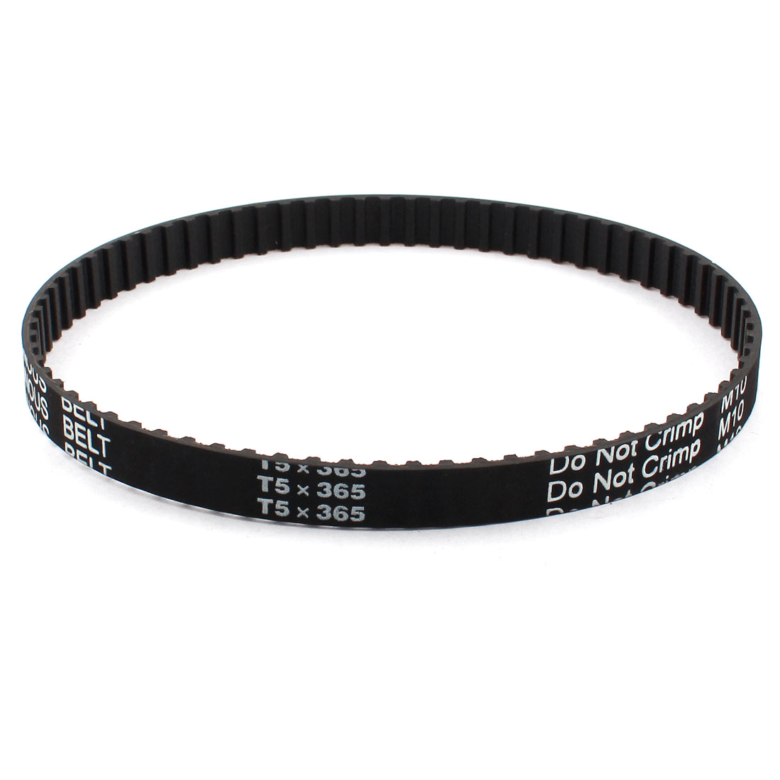 T5x365 73-Teeth 10mm Width 5mm Pitch Black Industrial 3D Printer Groove Synchronous Timing Belt 365mm Girth