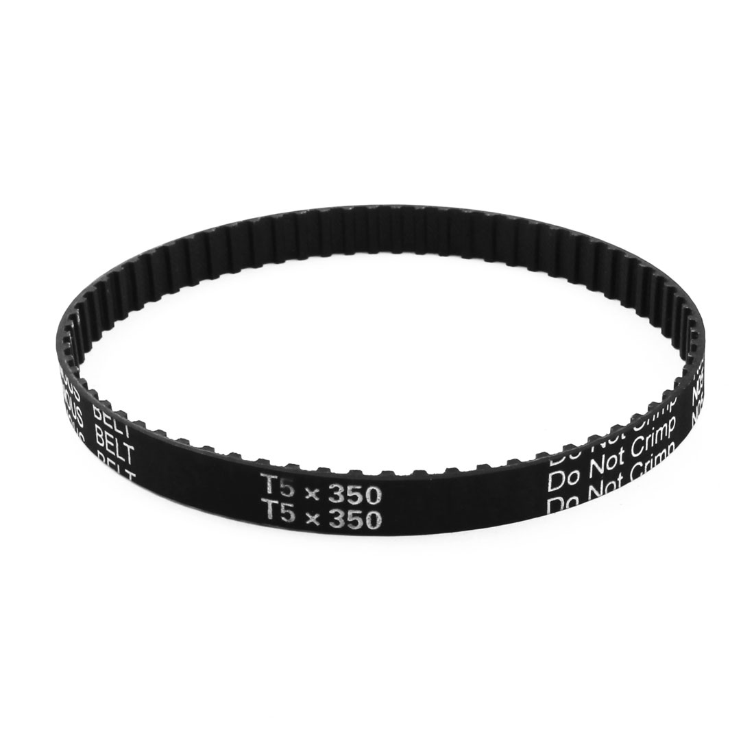 T5x350 70-Tooth 5mm Pitch 10mm Wide Black Industrial Groove Stepper Motor Synchronous Timing Belt 13.8""
