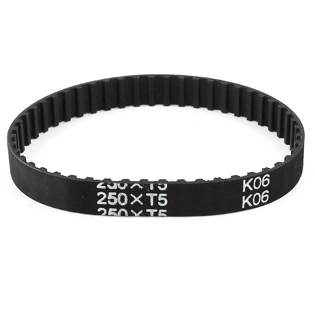 T5x250 50 Teeth 10mm Width Rubber Drying Machine Timing Belt Black
