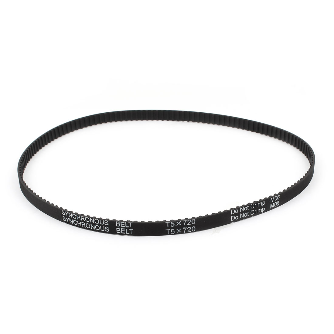 T5x720 144 Teeth 10mm Width Rubber Timing Belt Black