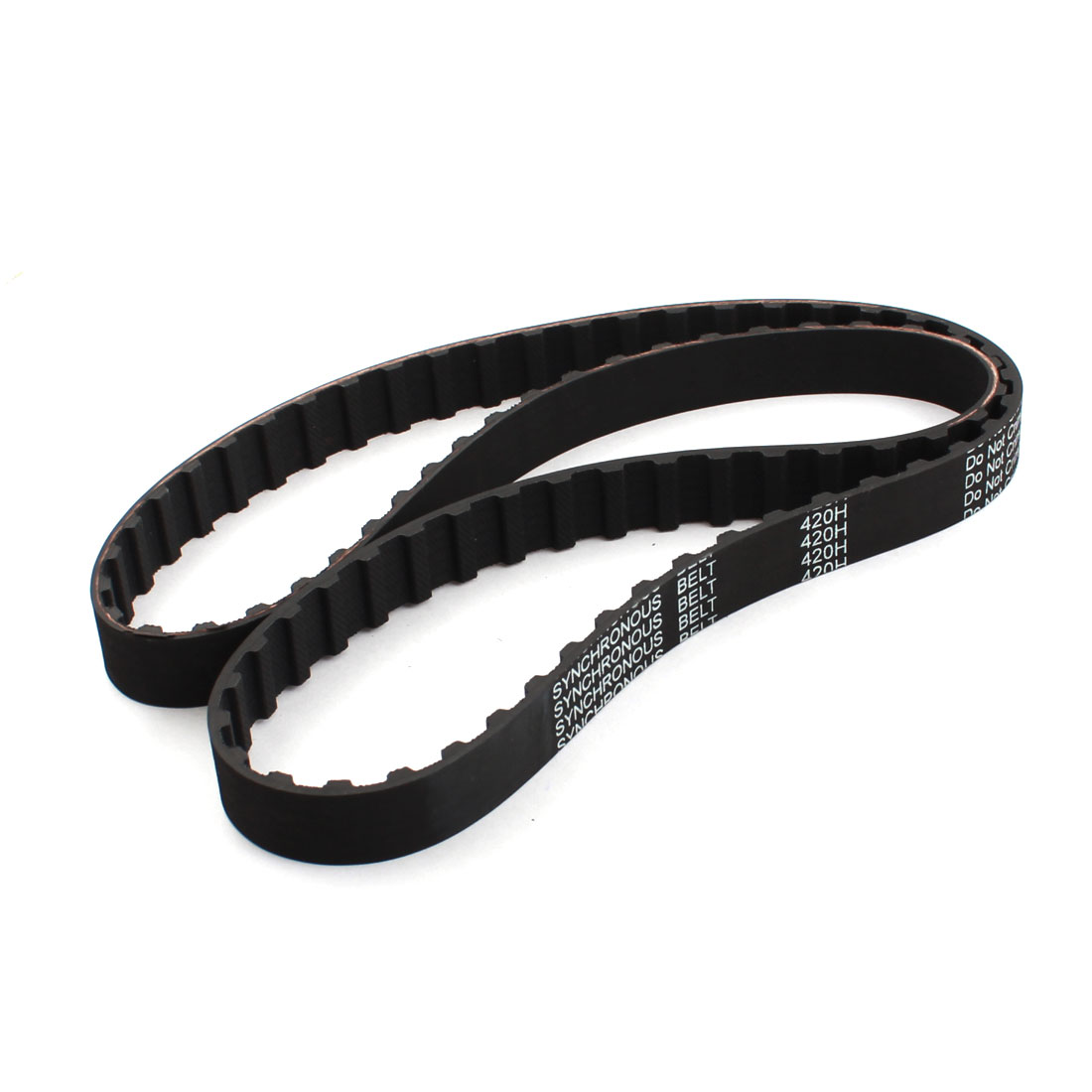 420H 075 84-Teeth 12.7mm Pitch 19.1mm Width Single Side Black Groove Industrial Stepper Motor Synchronous Timing Belt 42""