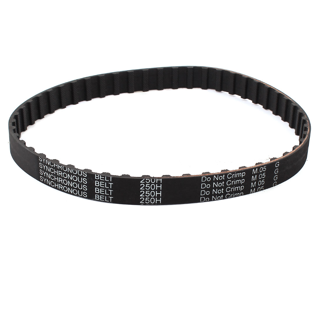 250H 075 19.1mm Width 50 Teeth CNC Timing Belt Black for Stepper Motor