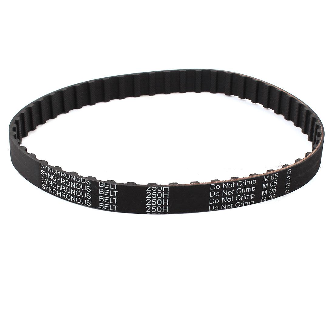 250H 075 19.1mm Width 50 Teeth CNC Timing Belt Black for Stepper Motor