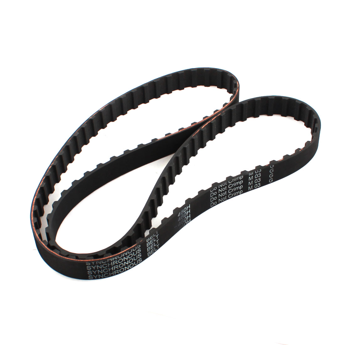 460H 075 19.1mm Width 12.7mm Pitch 92 Teeth Single Side Industrial CNC Black Groove Synchronous Timing Belt 46""