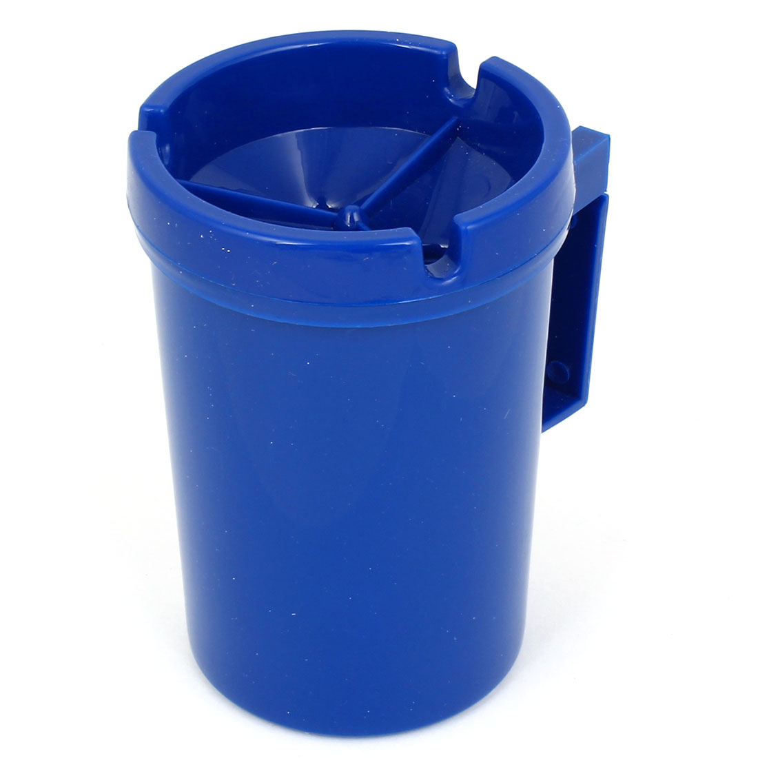 Auto Car Blue Plastic Clip 3 Groove Cup Shape Cigarette Holder Container Ashtray