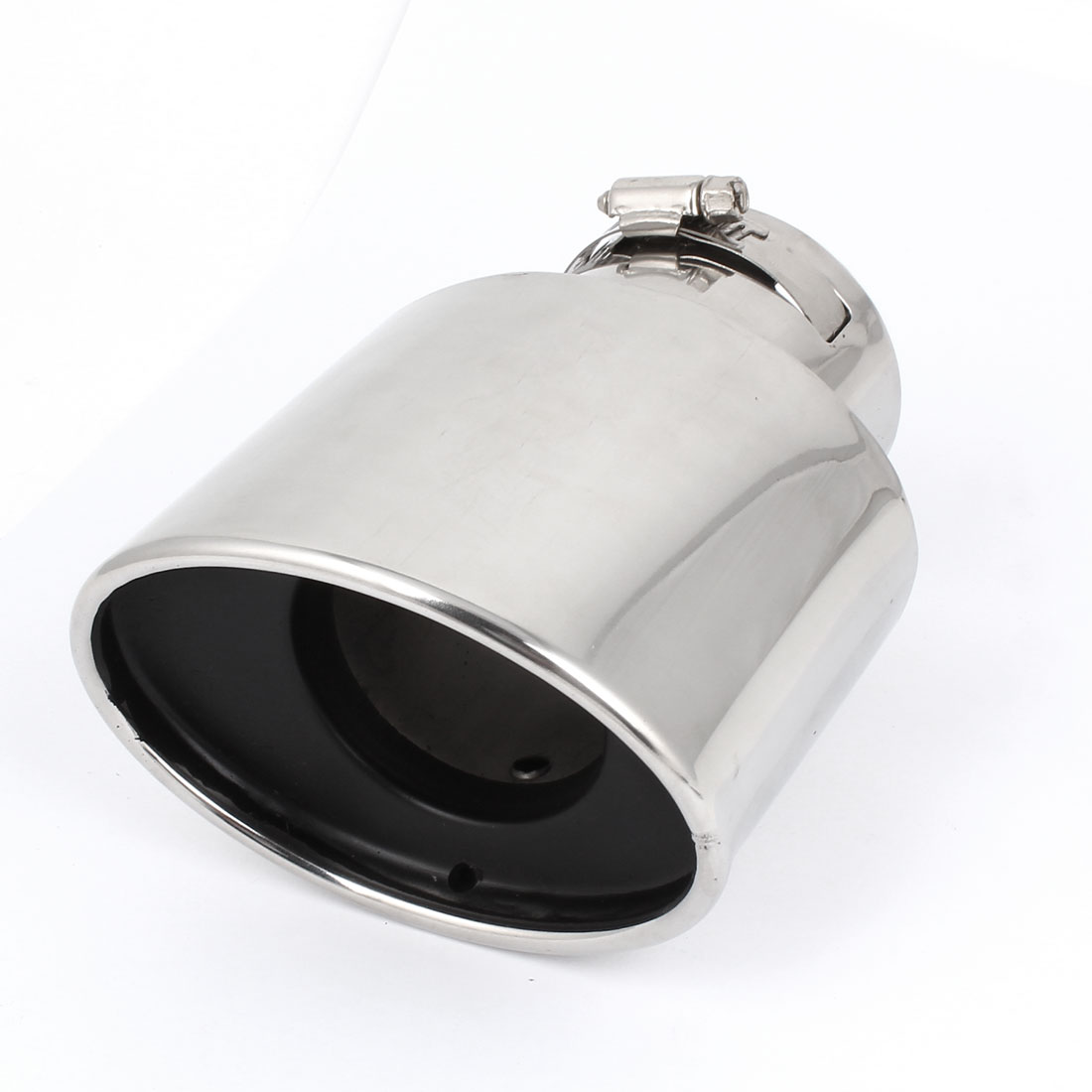 Car Silver Tone 75mm Dia Angle Cut Slanted Exhaust Muffler Silencer Tip Pipe for Honda CRV