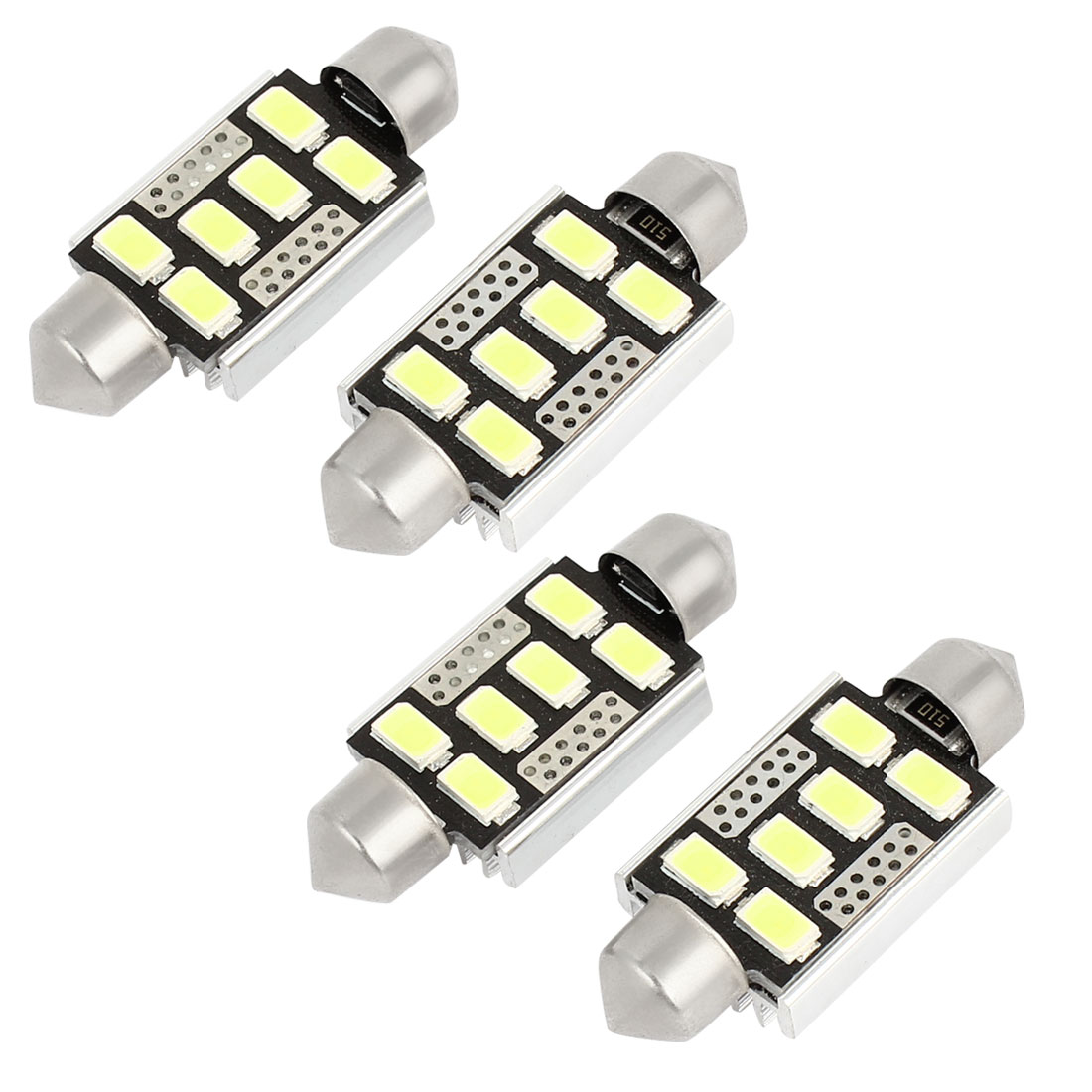 4 Pcs Car Auto White 5630 6 SMD LED Festoon Dome Light Roof Lamp Bulb 39mm Internal