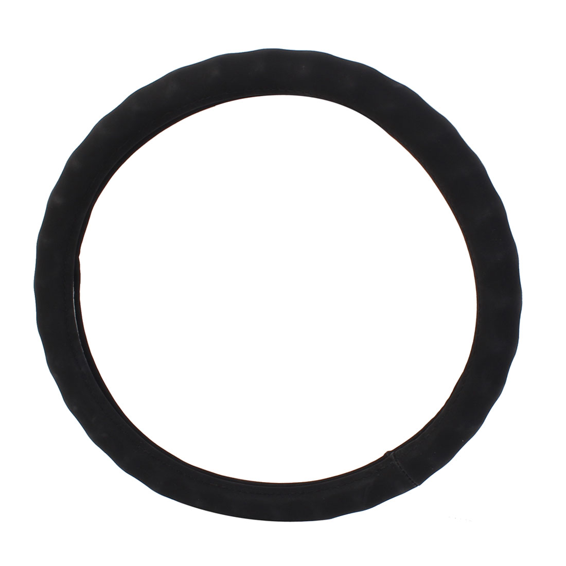 38cm Diameter Car Truck Faux Leather Steering Wheel Cover Black