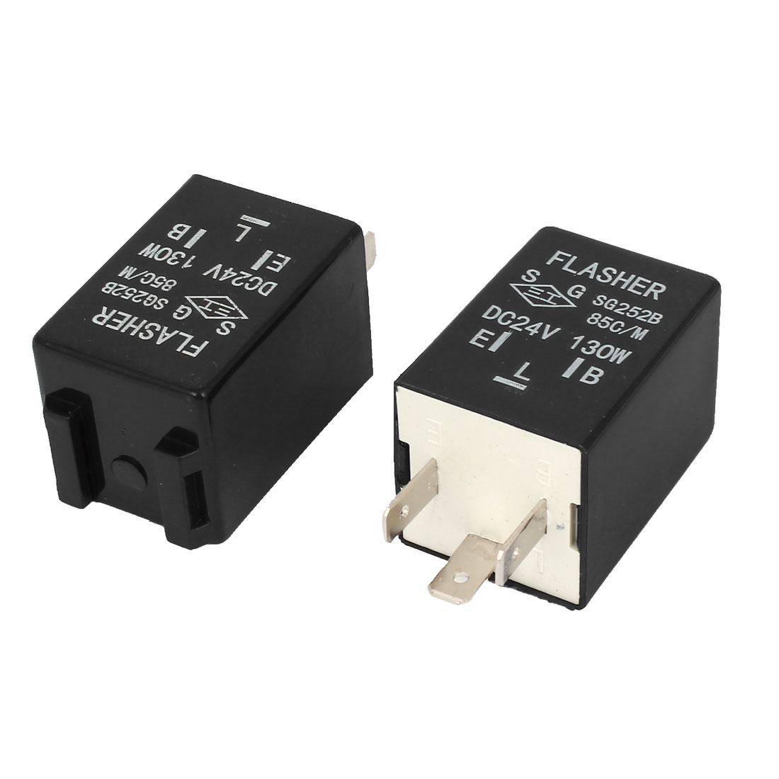 2 Pcs 130W DC 24V Relay Unit Electronic Flasher for Car Auto