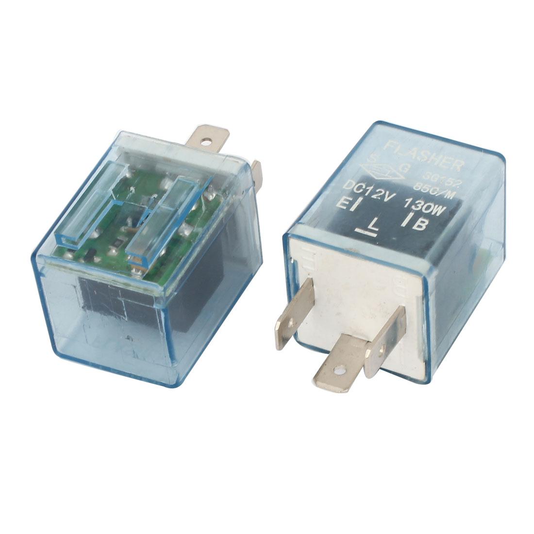 2 Pcs DC 24V 130 Electronic LED Light Clear Plastic Car Flasher Relay