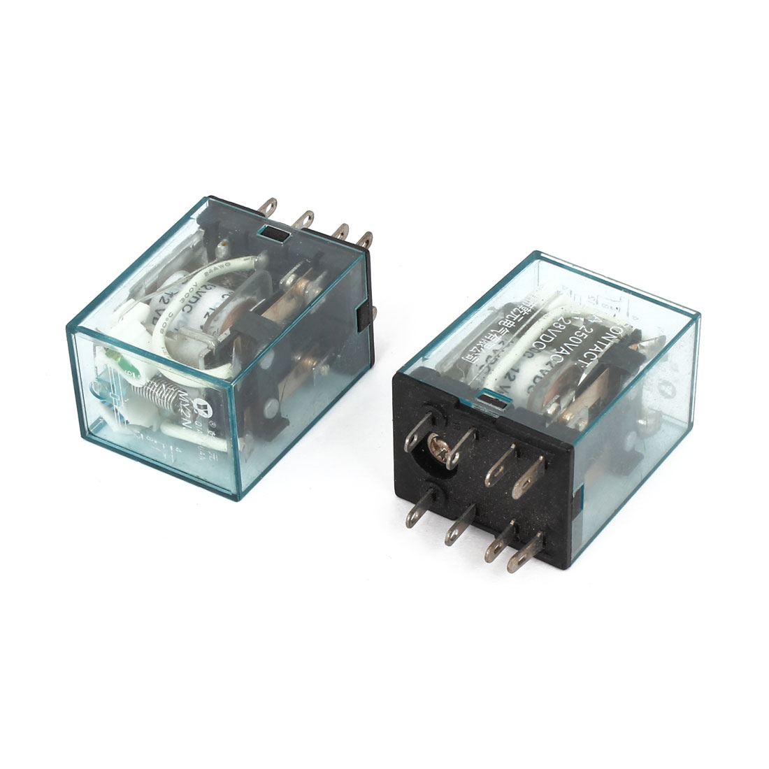 2 Pcs Coil 5A 8 Pin Electromagnetic Relay Clear DC 28V