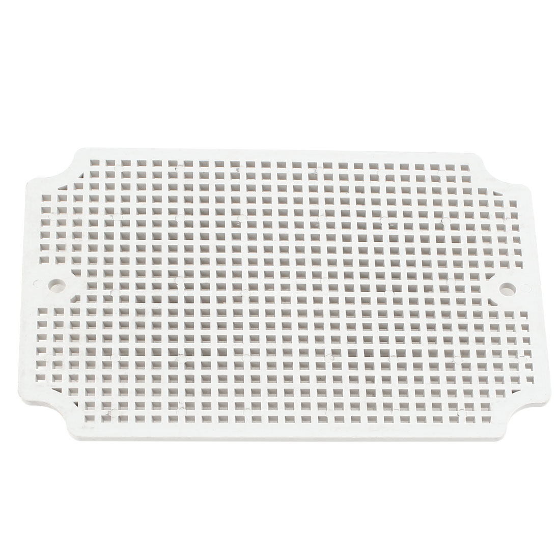Gray Plastic Mesh Enclosure Mounting Plate for 120 x 170mm Junction Box